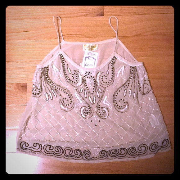 Tops - Beaded Tank Top.